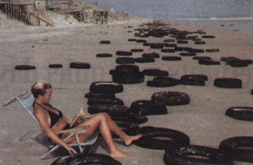 Photo of Tires on a NC beach